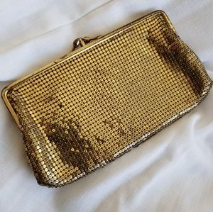 Vintage Whiting and Davis Gold Mesh Clutch